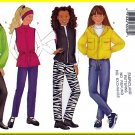 Butterick Sewing Pattern 6789 Sz 7-10 Girls' Jackets Vests Hooded Parka Bomber Jacket Anorak Pants