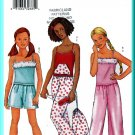 Butterick Sewing Pattern 6897 Sz 7-10 Girls' Sleepwear Lounge Wear Camisole Shorts Pant Bag Eye Mask