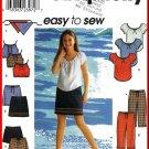 Simplicity Sewing Pattern 9209 Sz 7-16 Girl's Boho Peasant Top Scarf Mini Skirt Cropped Pants Shorts