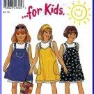 New Look Sewing Pattern 6743 Sz 3-8 Girls' Casual Summer Jumper Dress Suspenders Tank Top Petticoat