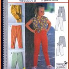 Burda Sewing Pattern 3020 Sz 6-11 Girls' Tapered Fitted Ankle Length Pants Cropped Capri Shorts