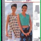 Burda Sewing Pattern 3003 Sz 6-18 Misses' Tunic Vest Side Slits Cropped Vest Top Darts V-Neck Button