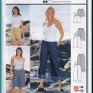 Burda Sewing Pattern 8914 Sz 10-22 Misses' Wide Leg Cropped Pants Knee Length Bermuda Short Shorts
