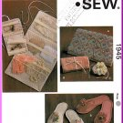 Kwik Sew Sewing Pattern 1945 Misses' Slippers Accessory Cases Jewelry Lingerie Travel Bag Pouches