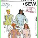 Kwik Sew Sewing Pattern 1996 Sz XS-XL Misses' Sweaters Vests Knit Pullover Tops Turtleneck V-Neck