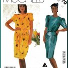 Vintage McCall's Sewing Pattern 2370 Sz 12 Misses' Liz Claiborne Dress Blouson Bodice Pleats Yoke