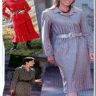 Sewing Step-By-Step Pattern 012-052-182 Shirtwaist Dress Sz 4-22 Misses' Button Dress Full Slim