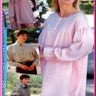 Sewing Step-By-Step Pattern 012-052-085 Romeo Blouse Sz 4-22 Misses' Chic Ruffle Gathered Shirt Yoke