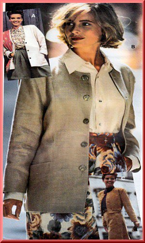 Sewing Step-By-Step Pattern 012-052-104 Cardigan Jacket Sz 4-22 Misses' Chic Boxy Collarless Blazer