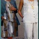 Sewing Step-By-Step Pattern 012-052-134 Summer Outfits Sz 4-22 Misses' Tank Top Skirt Loose Pants