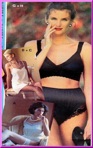 Sewing Step-By-Step Pattern 012-052-116 Lingerie Sz 4-22 Misses' Undergarments Panties Bra Teddy
