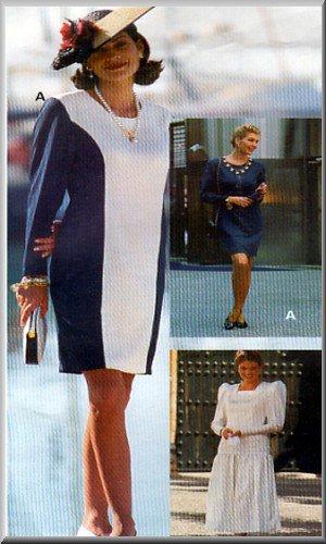 Sewing Step-By-Step Pattern 012-052-119 Princess Dress Sz 4-22 Misses' Sheath Dress Drop Waist Gown