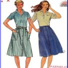 Vintage Butterick Sewing Pattern 3674 Size 8-12 Misses' 80s Dirndl Skirt Below Knee Length Buttons