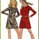 Vintage Buterick Sewing Pattern 5808 Size 12 Misses' Easy Raglan Sleeve Dress Neck Gathers Front Tie