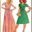 Vintage McCall's Sewing Pattern 5656 Size 10 Misses' Stretch Knit Dress V-Neck Collar Front Tucks