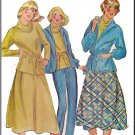 Vintage McCall's Sewing Pattern 6265 Size 12 Misses' Basic Stretch Knit Coordinates Jacket Top Skirt