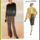 Vintage Vogue Sewing Pattern 2355 Size 18-22 Misses' Anne Klein Wide Leg Pants Straight Skirt Jacket