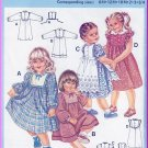 Vintage Burda Sewing Pattern 7204 Size 6M-3/4 Girls' Pretty Dress Frilly Pinafore Peter Pan Collar