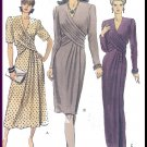 Vogue Sewing Pattern 7939 Size 6-10 Misses' Dress 3 Styles Sophisticated Pleated Crossover Bodice