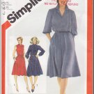 Vintage Simplicity Sewing Pattern 5242 Size 12 Misses' Secretary Office Dress Collar Knee Length 80s