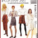 McCall's Sewing Pattern 6164 Size 22-24 Misses' Classic Front Pleat Wrap Skirt Chic Fringe 3 Lengths