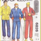 CUT Vintage McCall's Sewing Pattern 6826 Size 38 Men's 70s Winter Quilted Ski Jacket Snow Suit Pants