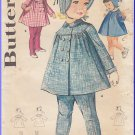 Vintage Butterick Sewing Pattern 2196 Size 1 Toddlers' Leggings Tights With Suspenders 1960s