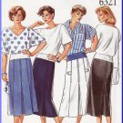 CUT New Look Sewing Pattern 6321 Size 8-18 Misses' Retro Classic Tailored Pleated Skirt Calf Length