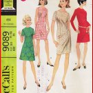 CUT Vintage McCall's Sewing Pattern 9089 Sz 11/12 Junior Teen Girls' Dress Classy Sheath Knee Length