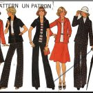 CUT Vintage Simplicity Sewing Pattern 7302 Sz 14 Misses' Skirt Pants Suit Jacket Italian Collar 70s