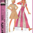 CUT Vintage McCall's Sewing Pattern 3921 Size 11 Junior Teens Top Panel Skirt Tie Front Puff Sleeves
