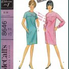 CUT Vintage McCall's Sewing Pattern 8646 Size 14 Misses' Classic Dress Geoffrey Beene Yoke Gathers