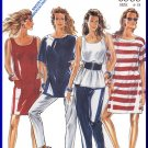 New Look Sewing Pattern 6535 Size 6-18 Misses' Retro Raglan Tops Turtleneck T-Shirt Jewel Neckline