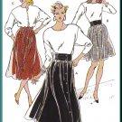 Vintage Kwik Sew Sewing Pattern 1804 Sz XS-XL Misses' Gathered Skirts Retro 80s Bubblegum Waistband