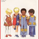 Vintage Simplicity Sewing Pattern 9640 Sz 4 Toddlers' Boys' Girls Coordinates Jumpsuit Jumper Pants
