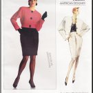 Vintage Vogue Sewing Pattern 2232 Size 12-16 Misses' Anne Klein Skirt Suit 80s Jacket Straight Skirt