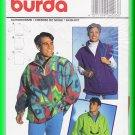 Burda Sewing Pattern 4203 One Sz Men's Women's Unisex Fleece Pullover Jacket Vest Casual Sporty Fun