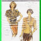 Burda Sewing Pattern 5070 Size 12-24 Misses' Tops Crossover Faux Wrap High Neck Long Short Sleeves