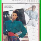 Burda Sewing Pattern 5601 Size 10-20 Misses' Batwing Raglan Shoulder Blouse Collar Cuffs Retro Chic
