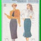 Burda Sewing Pattern 6749 Size 10-20 Misses Slim Elegant Skirt Side Pleats Ladylike Fishtail Flounce