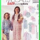 McCall's Sewing Pattern 4277 Sz 2-6 Children's Pajamas Sleepwear Top Pants Shorts Nightshirt Unisex