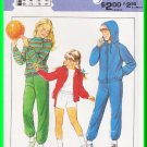 Vintage Style Sewing Pattern 3230 Sz 7-12 Girls' Sweatsuit Tracksuit Hoody Sweatshirt Jogging Pants