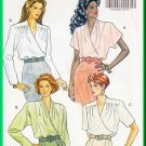 Butterick Sewing Pattern 5716 Sz 6-10 Misses' Mock Wrap Blouse Pleats Gathers Yoke Long Short Sleeve