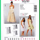 Burda 7539 Sewing Pattern Sz 8-18 Misses' Evening Dress Formal Prom Party Gown Empire Bodice Brides
