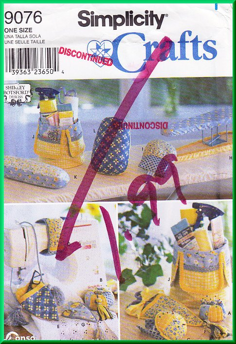 Simplicity 9076 Sewing Pattern OS Sewing Accessories Iron Sleeve Board Ham Pressing Mitt Pin Cushion