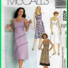 McCall's 4022 Sewing Pattern Sz 12-18 Misses' Dress Empire Gathered Bodice A-line Skirt Sleeveless