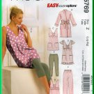 McCall's 5769 Sewing Pattern Sz L-XL Misses' Sleepwear Easy Loungwear Tunic Leggings Top Robe Pants