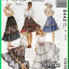 McCall's 6442 Sewing Pattern Sz 6-10 Misses' Tiered Skirts Rodeo Cowgirl Country Prairie Chic Skirts