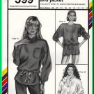 Stretch and Sew 399 Sewing Pattern Sz 30-46 Misses' Sweat Tops Oversized Hoody Jacket Pullover Shirt