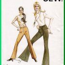 Kwik Sew 349 Vintage Sewing Pattern Sz 6-10 Misses' Retro Bell Bottoms Flared Pants Pull-on Elastic